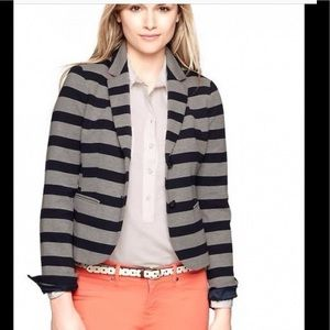Blazer Jacket navy gray stripe